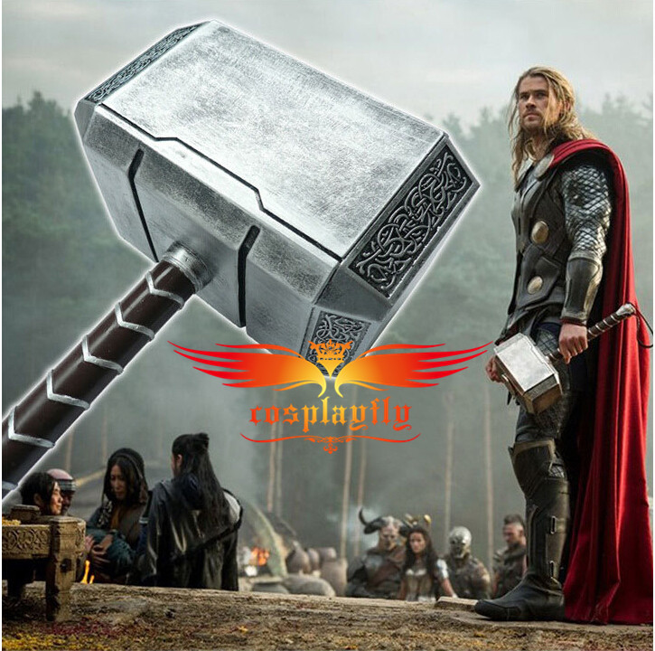 New Movie Props 1:1 Scale PVC Avengers Silver Thor hammer Toy for Cosplay D0081