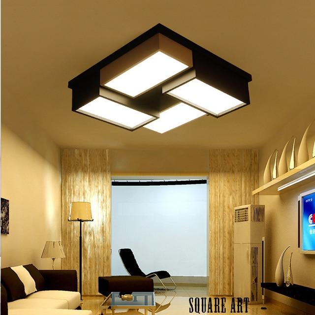 Luminaria sala lampara techo azul vintage modern led ceiling ...