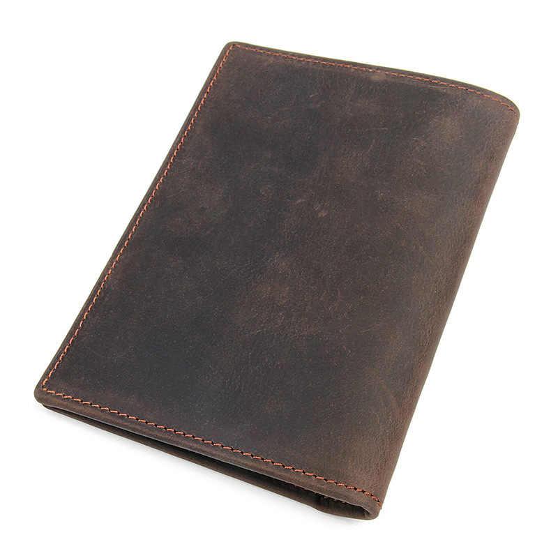 Housse de voyage fonctionnelle etui de passeport RFaID bloquant les détenteurs d'identité de carte en cuir véritable permis de conduire graver le nom portefeuille de passeport
