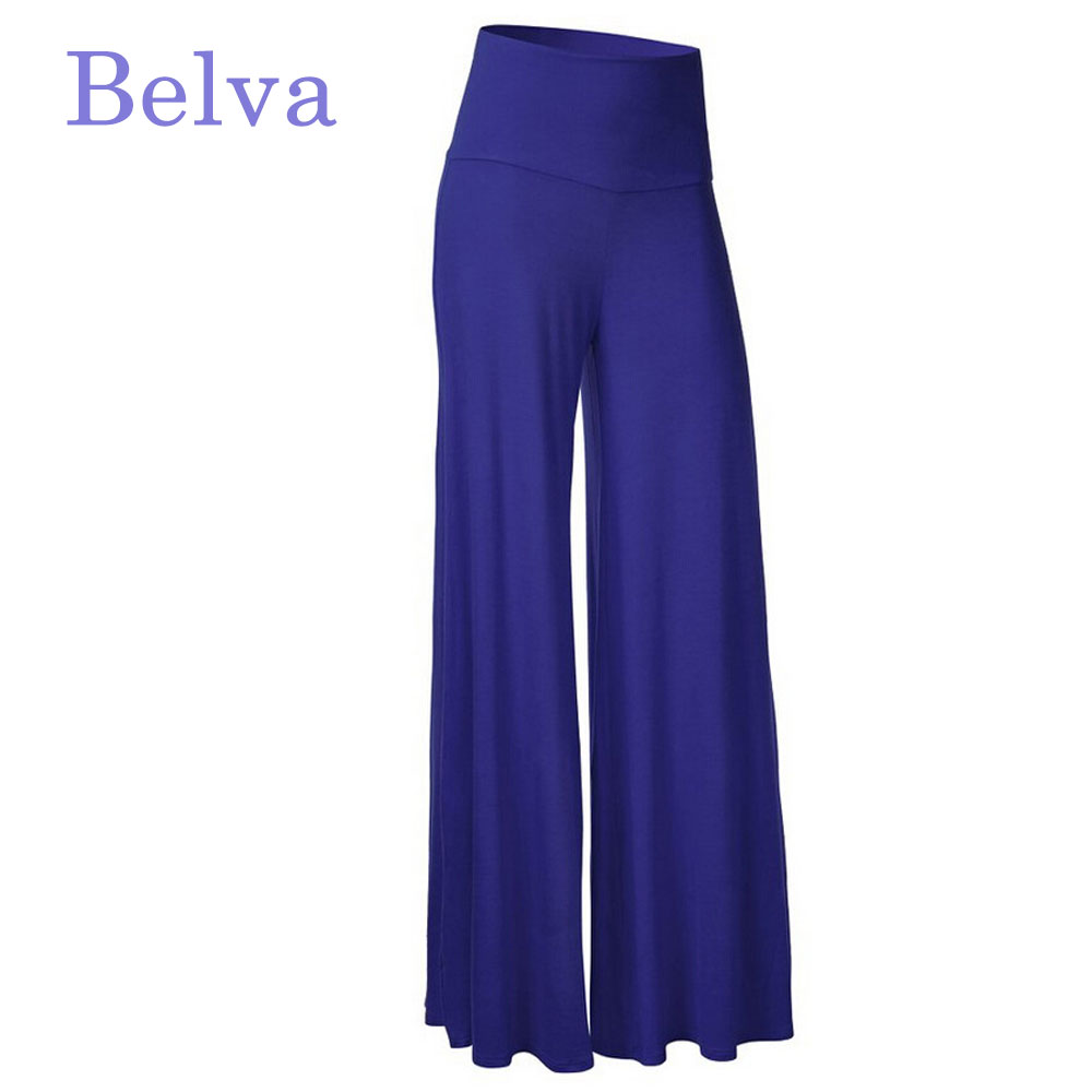 Belva 20 Colors Women Maternity Pants Summer Clothing Big Belly Wide Legs Pregnant Pants Loose Maternity Trousers 684