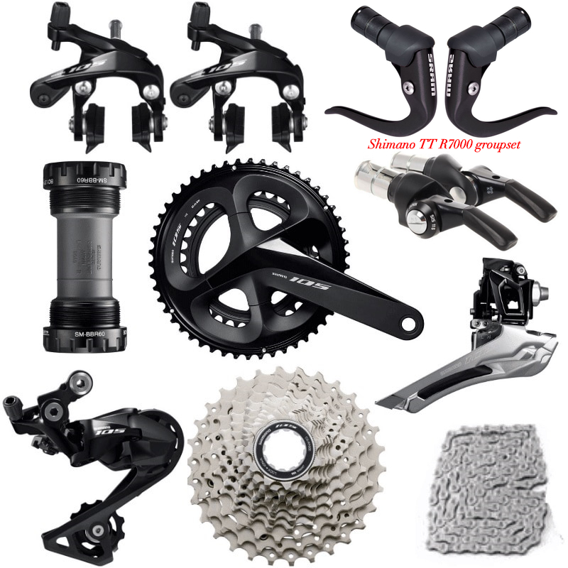 shimano TT R7000 Groupset  R7000 Derailleurs ROAD Bicycle 2x11 speed 50 34 52 36 53 39T 170 172.5MM 12 25,11 28/30/32/34TBicycle Derailleur   -