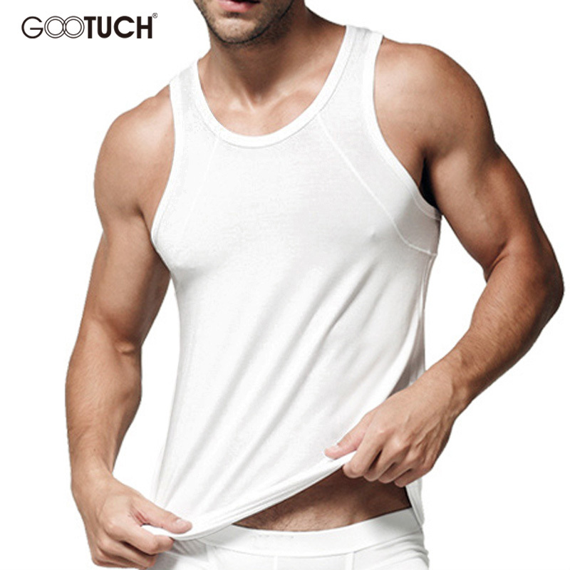 Hot Sales Sleeveless Undershirt Men Summer Vest Man Modal Tank Tops 4XL 5XL 6XL Ropa Interior Hombre singlet Underwear G-2268 ...