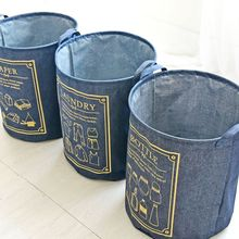 Cowboy Storage Basket Waterproof Foldable Cotton 40*50 cm Laundry For Toy Organizer Dirty Clothes Loundry Bag