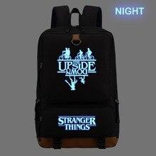 WISHOT stranger things plecak tornister dla nastolatków torby szkolne podróży na co dzień torby na laptop plecak Luminous