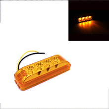 1Pcs 4LED Side Marker Light 24V Car Rear Clearance Lamp for Truck Trailer Lorry RV Pickup Red Yellow