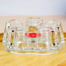 Candle Teapot Warmer Insulation-Base Trivet Heat-Resisting Glass 1076 Clear Coffee-Water-Scented