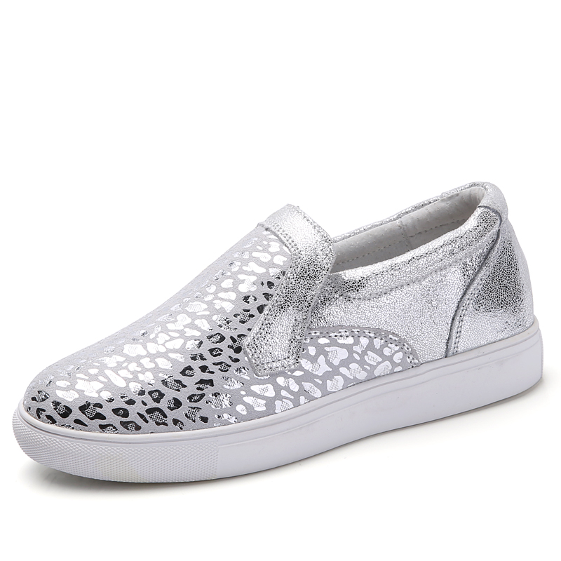Women slip on shoes penny loafers split cow leather for ...