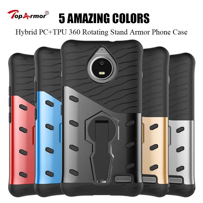 Armor Case Hybrid PC+TPU 360 Rotating Stand Case For Motorola Moto G3 G4 G5 C Plus Phone Case For Moto X Z Z2 Play E4 Eu Cover