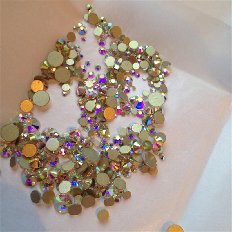 Dropwow Mix Sizes 1000PCS Pack Crystal Clear AB Non Hotfix Flatback ... db90f703c491