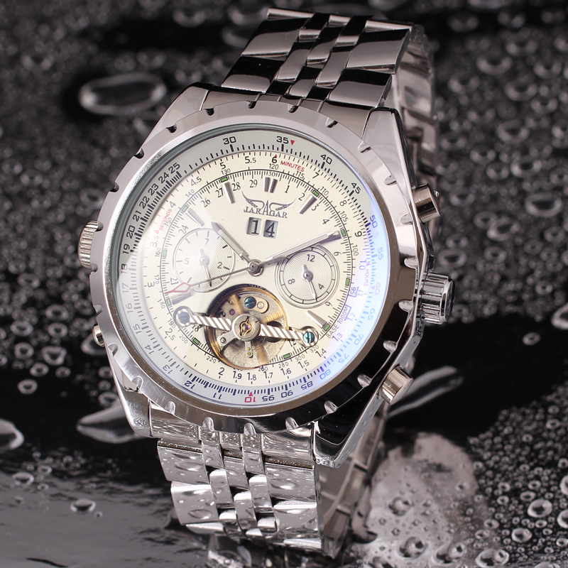Jargar Automatic Men with Silver Brass Wristwatch
