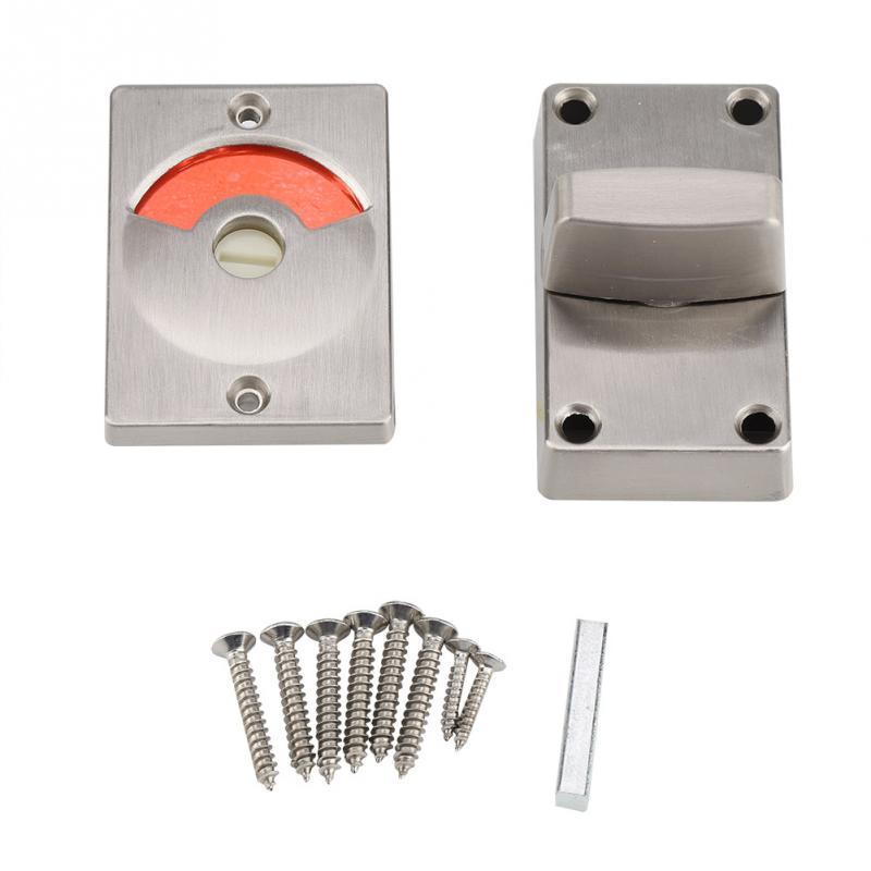 Indicator Door Locks with Screws Bathroom WC Toilet Privacy Bolt Door Lock Bathroom Restroom Toilet Indicator Door Lock