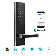 Bluetooth APP No Networking Remote Managing RFID Card and Multiple Code Password Unlock Smart Door Lock