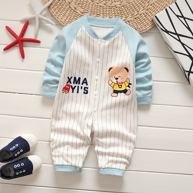 SHITOU Newborn Baby Girls Boys Long Sleeves Dinosaur Print Romper Jumpsuit Kid Clothes