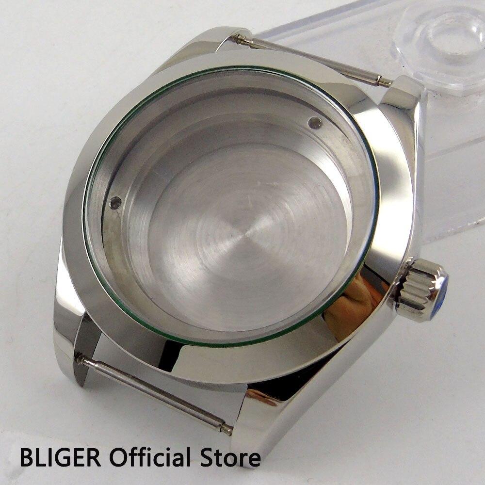 все цены на 40mm BLIGER silver luxury stainless steel watch case fit ETA 2824 2836 movement CA110 онлайн