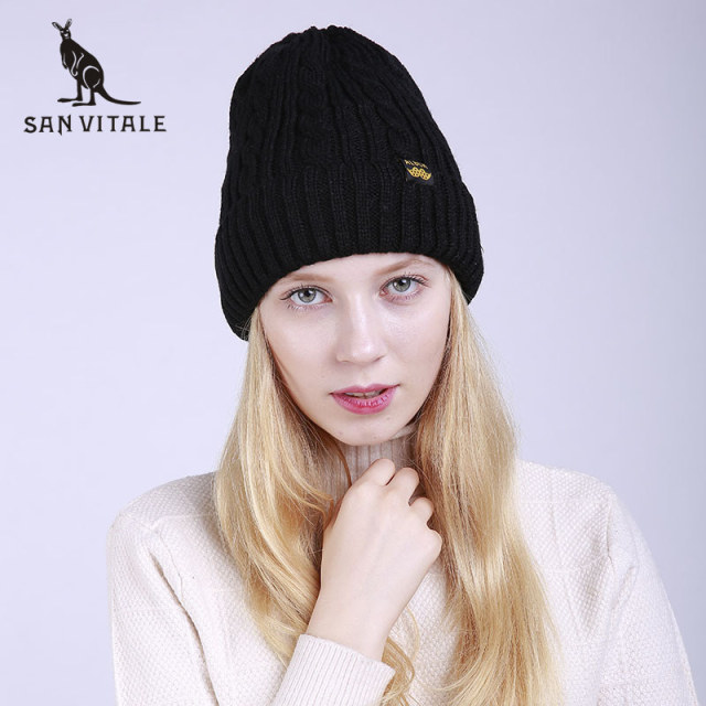 Women S Skullies Beanies Hats Winter Warm Hats Cashmere Cap Wool Black  Friday Deals Cotton With Ears Beret Knit Ponytail Rabbit 6d78d47be49