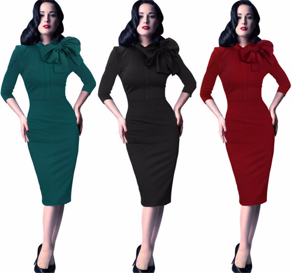 Vintage Bow Knot 2017 Ceremony Party Dresses Green Sexy Kleider ...
