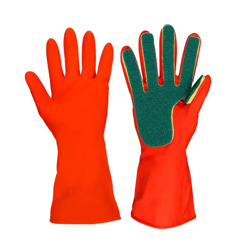 New Arrival Creative Home Washing Cleaning Gloves Reusable Kitchen Cleaning Gloves Sponge Fingers Household Dishwashing Gloves