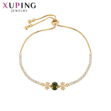 Xuping Fashion Vintage Bracelet With Synthetic Cubic Zirconia for Women Valentine's Day Jewelry Gifts S129-70007(China)