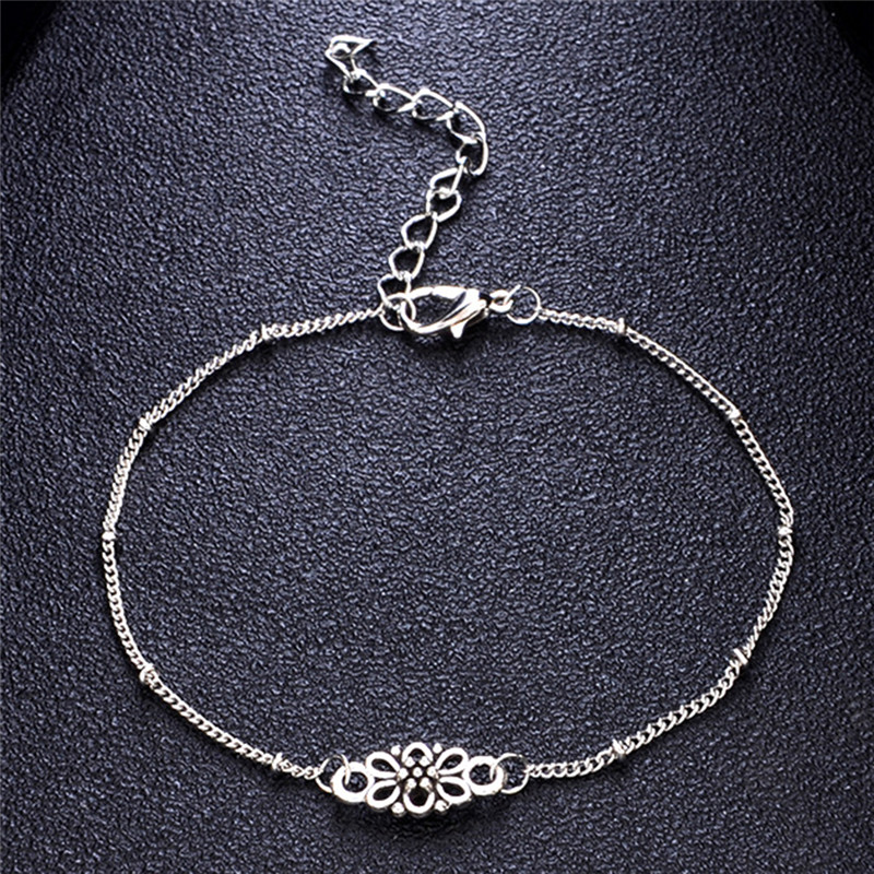 Anklets Vintage Blossom Engraved Jewelry Ankle Bracelets Chain Charm Women Carved Elegant Bee Insect Anklets Silver Color To Clear Out Annoyance And Quench Thirst Jewelry & Accessories