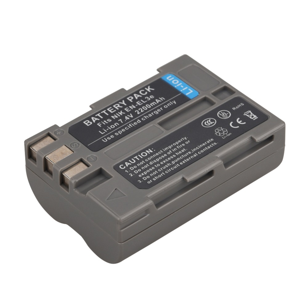 1 unid 2200mahen-el3e enel3e Baterías para cámara para Nikon D80 d90 d300 d300s d700 d200 D70 D50 d70s D100 d-100 d-300 d-70 d-90