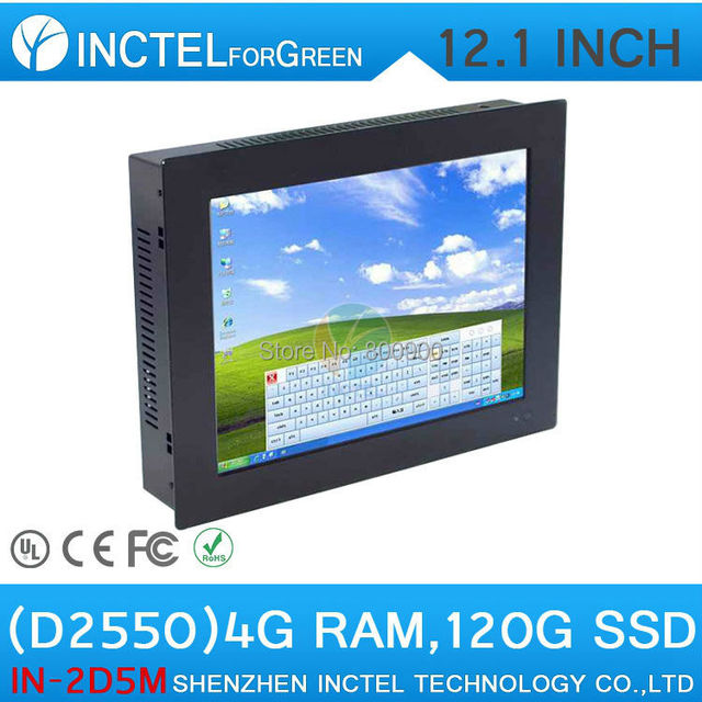 All in one computer mini terminal 12 inch Five wire Gtouch using high-temperature ultra thin panel with 4G RAM 128G SSD
