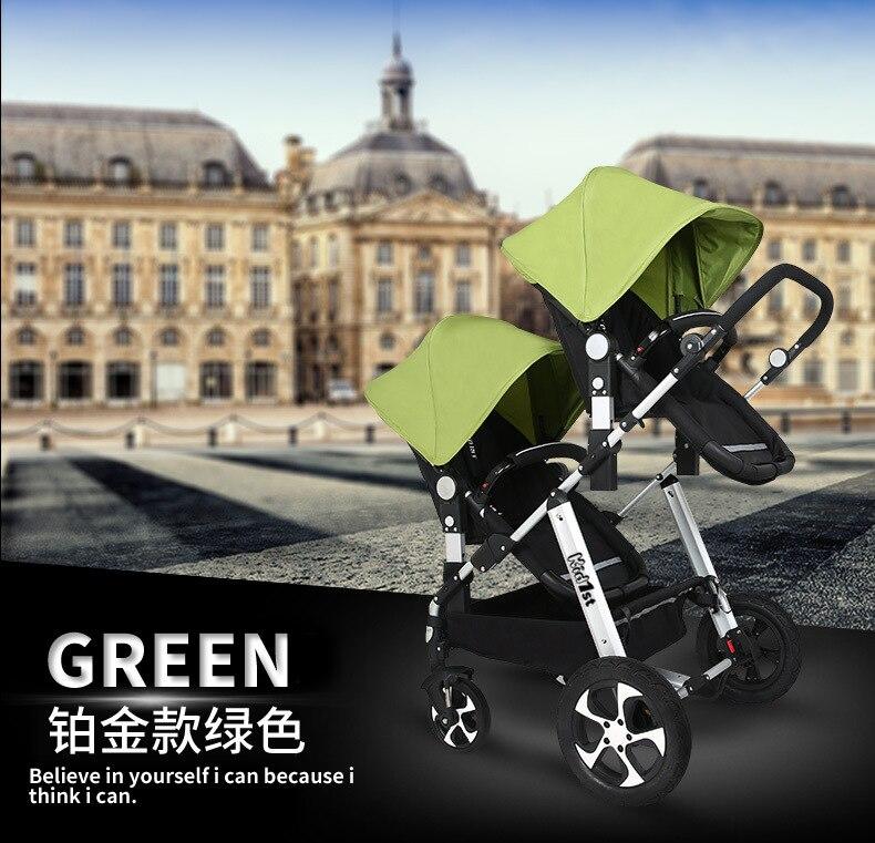 pode sentar reclinável alta paisagem dobrável amortecedor luz carrinho de bebê infantil