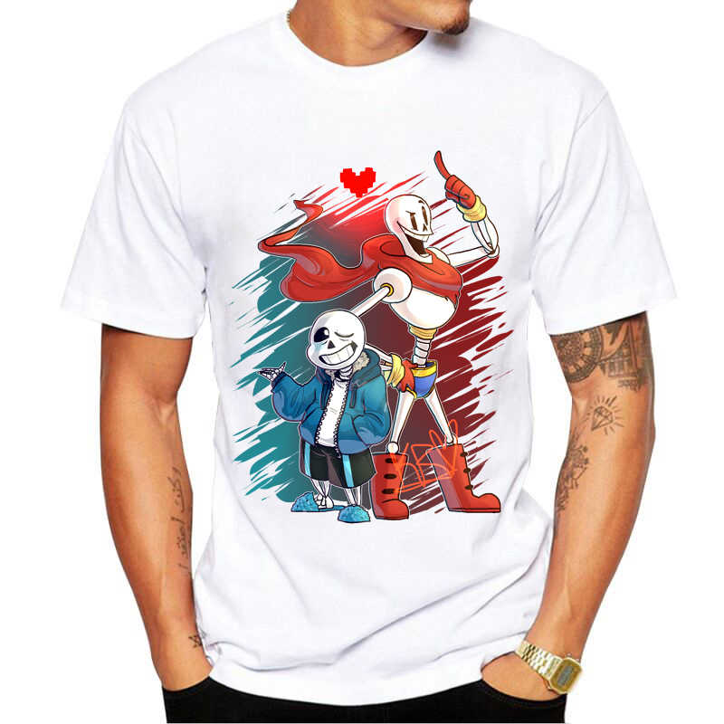 Game Undertale T-Shirt Short Sleeve Undertale sans and papyrus Undertale T  Shirt Top Tees 5ae2560bc430