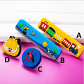 96mm Protección Del Medio Ambiente softgums Niños mango de dibujos animados de tren de cajones del gabinete perilla tirón tocador azul amarillo moda moderna