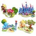 Brinquedos e Hobbies Puzzles Estéreo 3D Puzzle Modelo de Papel Brinquedo 2-4 Anos das Crianças presentes DIY multicor Gênio Alpinia Oxyphylla