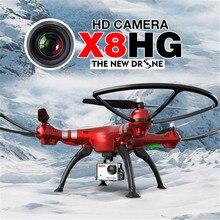 2016 Nueva Llegada de Syma X8HG Con 8MP HD Cámara de Altitud Hold Modo Sin Cabeza Resistencia Al Viento 2.4G 4CH 6 Axis RC Quadcopter RTF