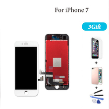 High Quality LCD Display For iPhone 7 Touch Screen Digitizer Assembly for iPhone 7 Ecran Pantalla Replacement +3GIFT Black White