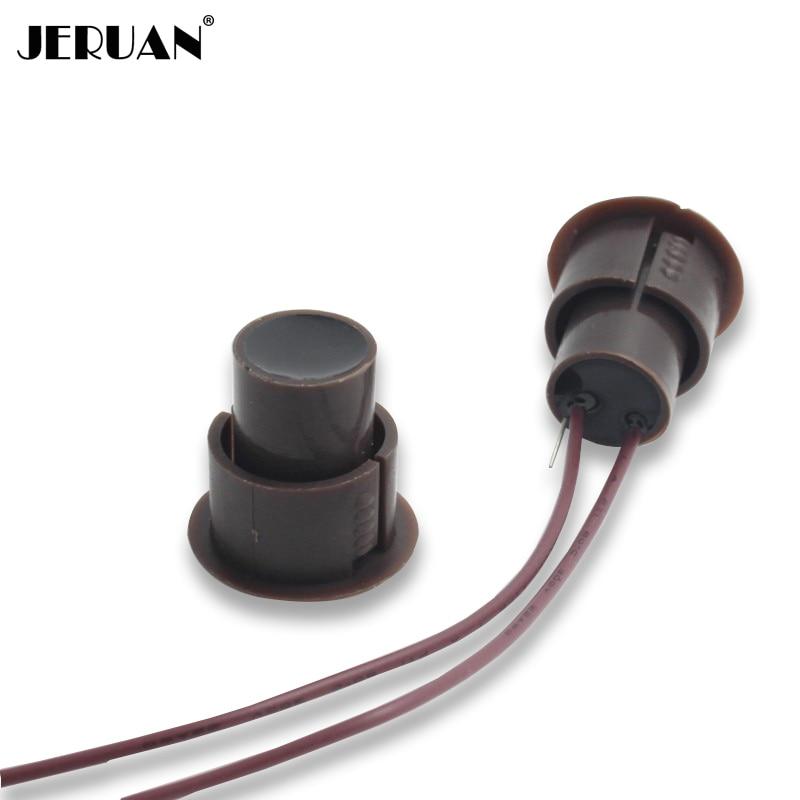 (10 Pairs) D * H 23*22mm Braun Farbe Wired Magnetschalter Türalarm Unterputz Nc Relaisausgang Magnet-sensor Billigverkauf 50%
