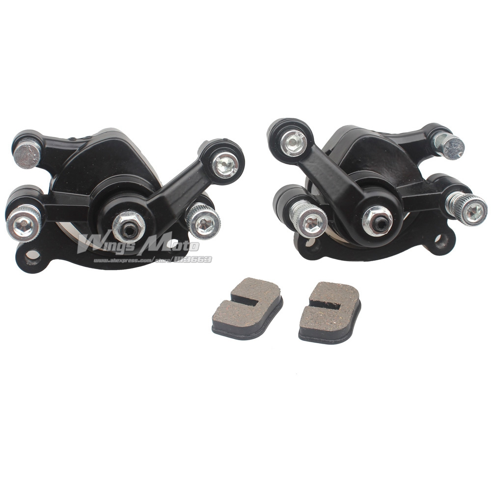 FRONT + REAR BRAKE CALIPER W/BRAKE PAD 49CC POCKET BIKE MINI MOTO NEW STYLE front left and front right and rear brake pad of cf moto cf650nk modl year 2013