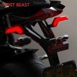 Espírito besta motocicleta luzes de sinal direção acessórios led turn signal luzes diurnas brilho da lâmpada arrowhead