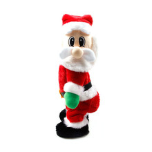 Santa Claus dance with sound toys funny christmas decorations gifts Birthday gift for Cute kids lovely Christmas electric toy