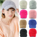 New Women's Beanie Trim Warm Winter Rabbit Fur Brim Hat Baseball cap Sports Hat