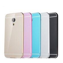 Novo para Meizu M2 mini caso 5.0 polegada de alumínio habitação estrutura metálica de proteção de acrílico capa Case para Meizu M2 mini celular