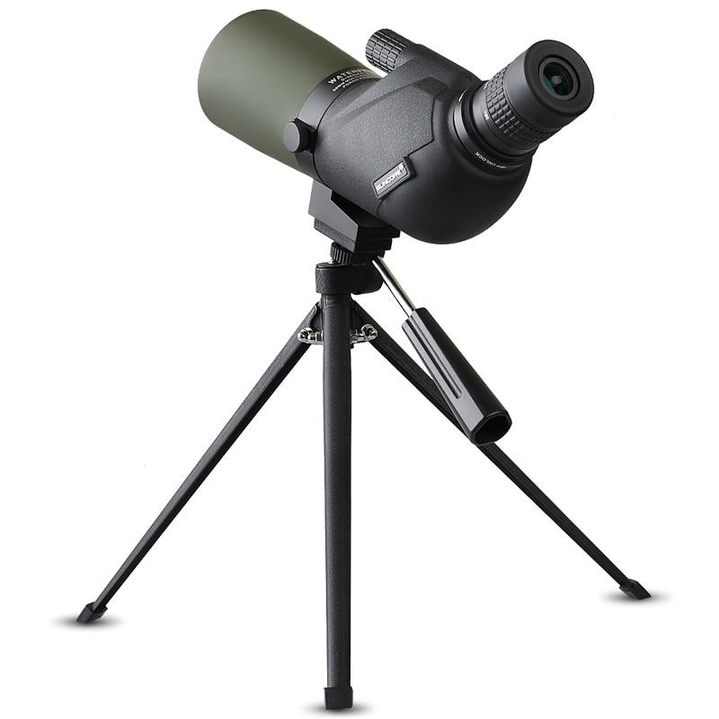 SUNCORE 12-45X HD BAK4 Prism Double Focusing Spotting Scope Portable Antifogging Telescope with Tripod for Hunting Bird Watching suncore water resistant 12 x 25mm monocular telescope