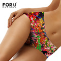 FORUDESIGNS Fashion Underwear Women Briefs Calcinha Women's Panties Bragas Ropa Interior Mujer Colorful Pattern Print Knickers