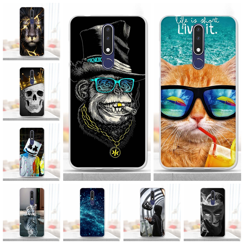 Silicone Case For Nokia 3.1 Plus Case Soft Tpu Back Phone Cover Shockproof Printing Coque Bumper Housing for Nokia 3.1 Plus Case