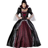 Vampir kraliçe kostüm seksi anime siyah gotik lolita dress cosplay