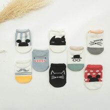 Детская лодка носки летние тонкие хлопок От 0 до 2 лет носки Для мужчин и Для женщин хлопковые нескользящие Пластик шаговый носки-тапочки