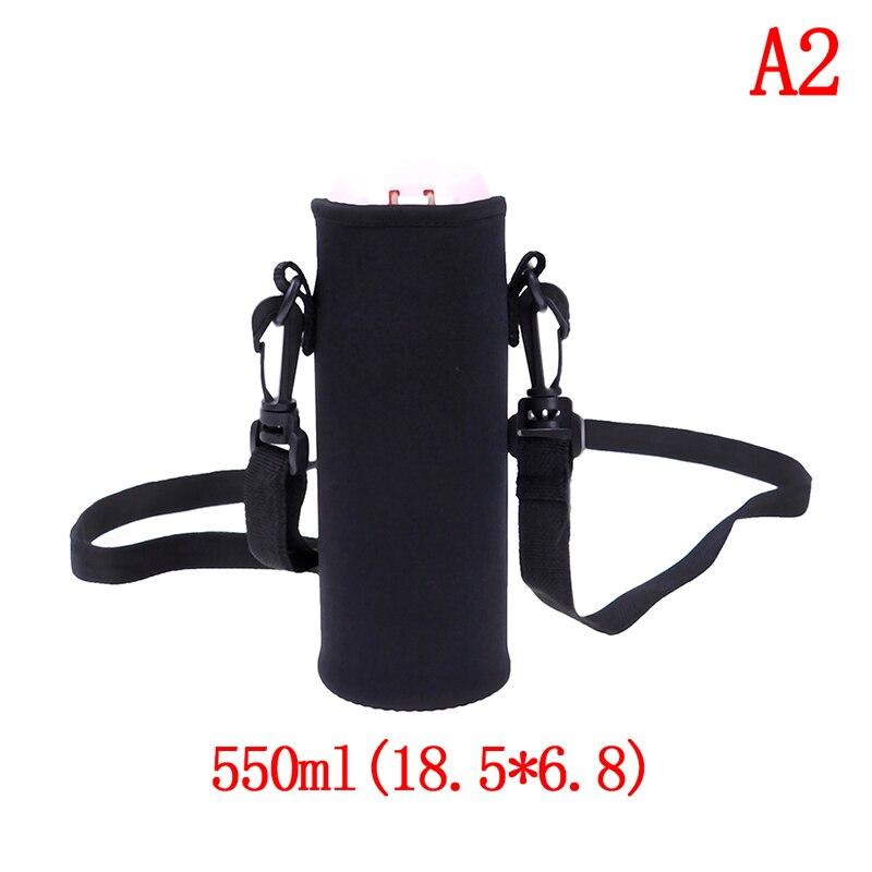 420-1500 мл оболочка для бутылки сумка ж/неопреновый ремень сумка для воды держатель плечевой ремень черная бутылка сумка - Цвет: A2