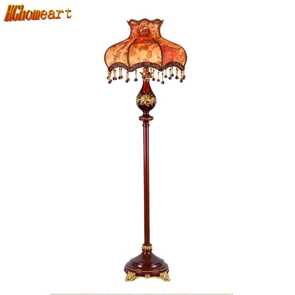 HGHomeart Nordic Retro Resin Floor Lamp Lambader LED Art