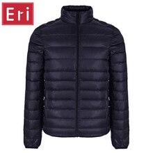 Marke Winterjacke Männer 2017 Neue Paare Mäntel Ultra-light Slim Fit Stehkragen Baumwolle Gepolsterte Feste Parkas Ente-unten 3XL X320
