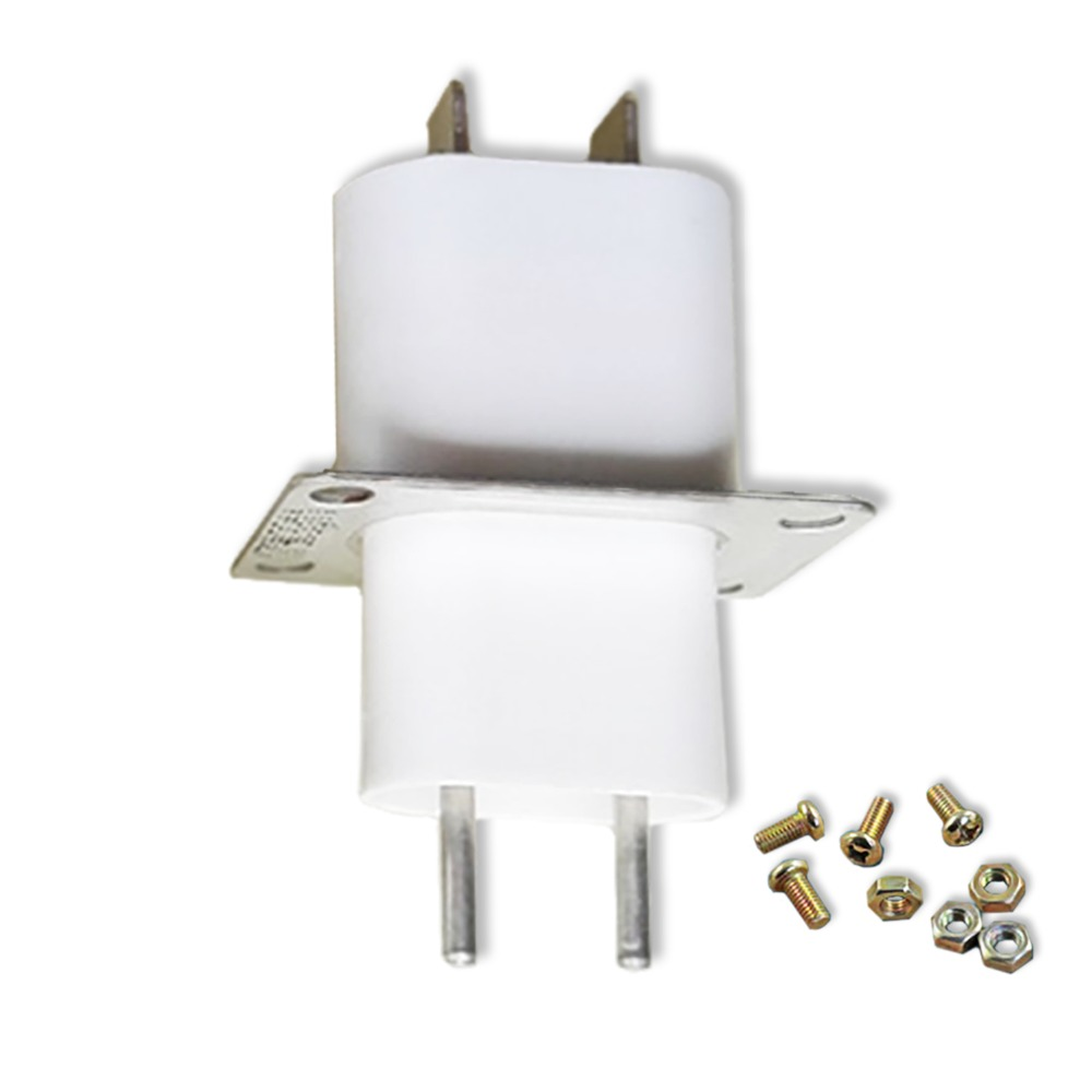 1 Pieces Microwave Oven Magnetron Part Launch Tube Socket High Voltage Filament Plug Connector Socket Home Appliance Parts New
