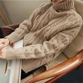 2017 Spring Women Sweater Winter Knitted Pullovers Tops Women's Korean  Solid Turtleneck Slim Women Winter Sweater E43-B N 9243