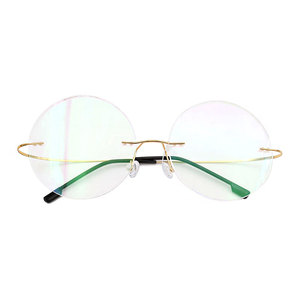 Fashion Titanium Rimless Eyegl