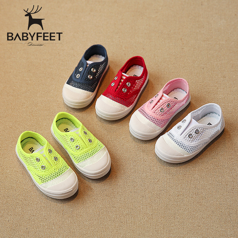 Babyfeet summer baby toddler shoes non-slip children sneakers boys & girls trainers leisure shoes White red pink dark blue green babyfeet summer cool toddler shoes 0 2 year old newborn baby girl