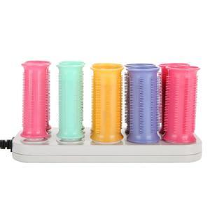 Image 3 - Elektryczny podgrzewany rolki lokówka rolki papilotki zestaw włosów przykleja rury suche i mokre kręcone